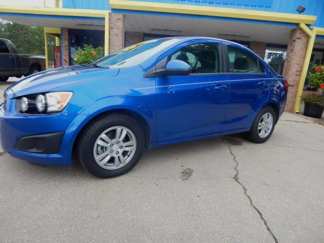 2016 Blue /Gray Chevrolet Sonic LT Auto Sedan (1G1JC5SH7G4) with an 1.8L L4 DOHC 24V engine, Automatic transmission, located at 3120 W Tennessee St, Tallahassee, FL, 32304-1002, (850) 575-6702, 30.458841, -84.349648 - Photo #0