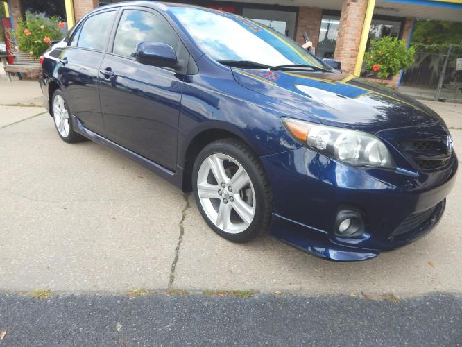2013 Dk Blue /Charcoal Toyota Corolla S 4-Speed AT (5YFBU4EE7DP) with an 1.8L L4 DOHC 16V engine, 4-Speed Automatic transmission, located at 3120 W Tennessee St, Tallahassee, FL, 32304-1002, (850) 575-6702, 30.458841, -84.349648 - Photo #0